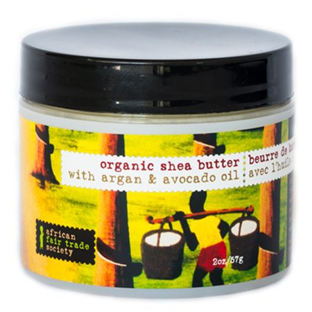 African trade organic shea butter with argan
